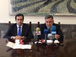 Ο πρόεδρος του ΙΣΡ Χρ.Μαντάς και ο Γ.Γ. Ηλίας Τσέρκης