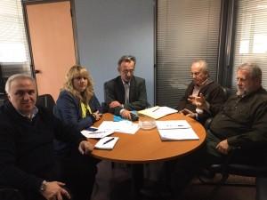 Τα μέλη της ΕΝΙ-ΕΟΠΥΥ με τον νέο αντιπρόεδρο του Οργανισμού Τ.Γεωργακόπουλο