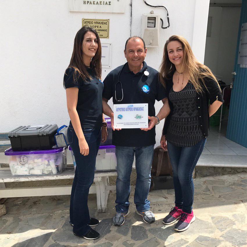 Η ELPEN και η «Σύμπλευση» εξοπλίζουν το ιατρείο & το σχολείο της Ηρακλειάς