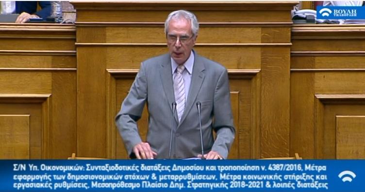 Κ.Λουράντος: Λάβρος εναντίον κυβέρνησης και τοπικών συμφερόντων για τα φάρμακα! Τι είπε στη βουλή