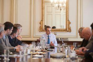 Ο Κυριάκος Μητσοτάκης με υπουργούς του