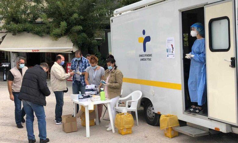 Κορονοϊός: Πού γίνονται σήμερα 28 Απριλίου δωρεάν rapid test από τον ΕΟΔΥ